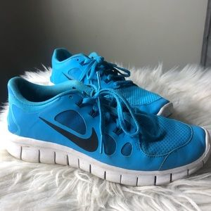 Nike Free blue running shoes womens 8